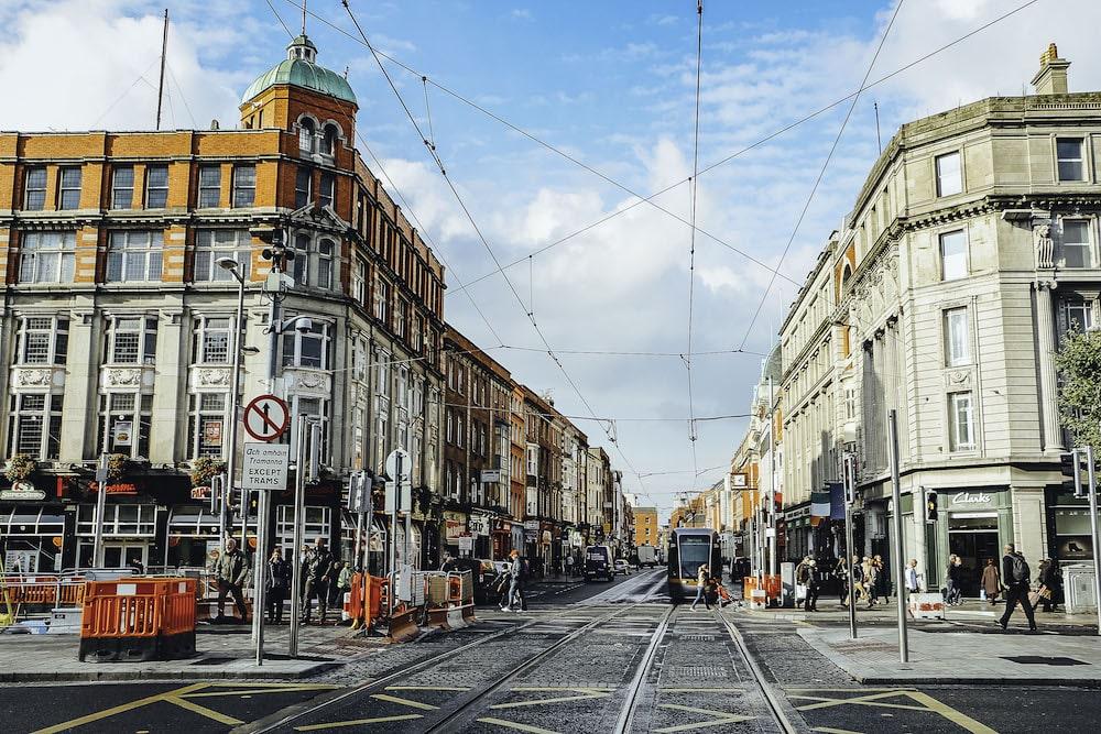O'Connel Street, Dublin, Ireland - October 14, 2016.